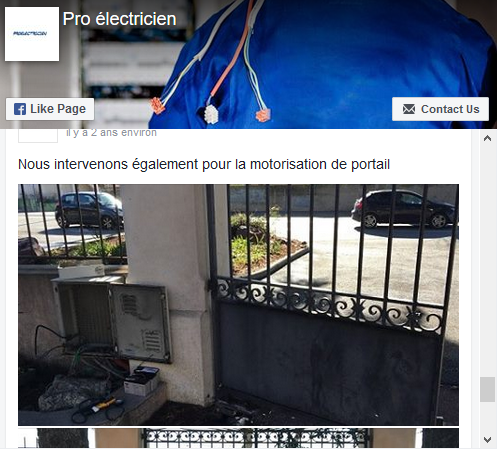 Page facebook electricien alpes maritimes